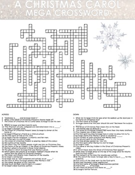 MASSIVE 'A Christmas Carol' Crossword Puzzle - 50 Clues!