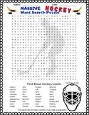 MASSIVE Hockey Word Search Puzzle - Fun Reward for Early F