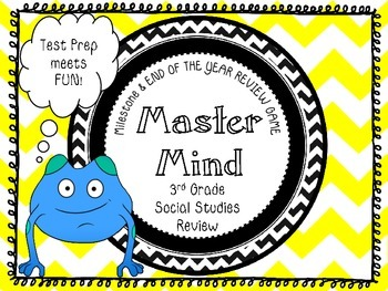 MASTER MIND: A MUST USE GA MILESTONE TEST PREP GAME FOR 3RD GR. SOCIAL STUDIES