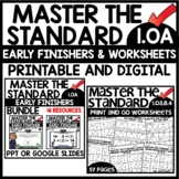 MASTER THE STANDARD 1.OA Early Finisher & Print Worksheets
