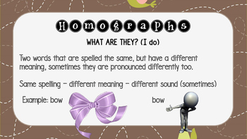 MASTERCLASS Homographs as Nouns and Verbs - Daily 5 Work on Writing