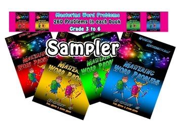 WORD PROBLEMS - SAMPLER Grade 3 to 6