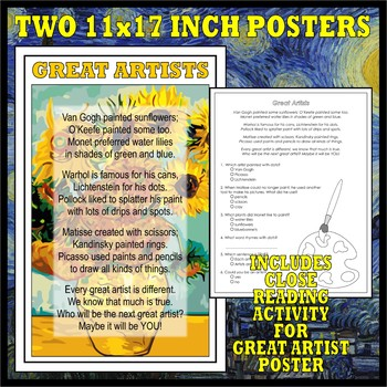 MASTERPIECE/GREAT ARTISTS Poster Set