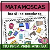 MATAMOSCAS - Los útiles escolares con imágenes (School supplies with images)