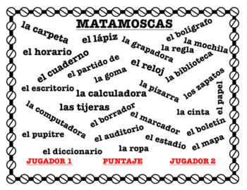 MATAMOSCAS - School supplies and Places in Schools