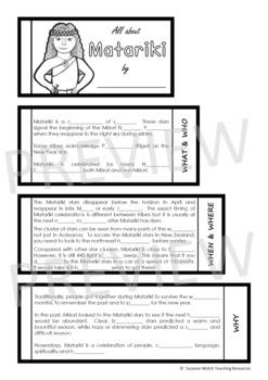 MATARIKI – Flip Flap Booklet