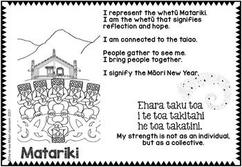 MATARIKI *** Whakataukī, Colouring Activity Pages***