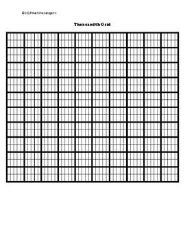 Decimals --Standard Form, Word Form, and Thousandth Grid (Decimal Matching)