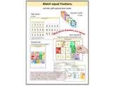 MATCH EQUAL FRACTIONS: Multi-Question Task Cards