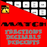 MATCH - Fractions, Decimals, and Percents Puzzle