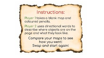 MATCH MY MAP! Oral Language Task / Barrier Game / Positional Language