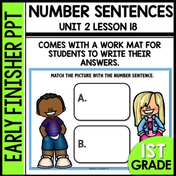 Early Finishers Activities | MATCH PICTURE WITH NUMBER SENTENCE [8 & 9]