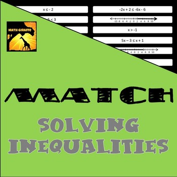 MATCH - Solving Inequalities Puzzle