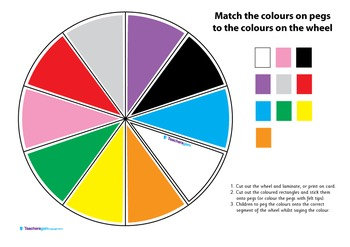 MATCH THE COLOURS - COLOUR WHEEL
