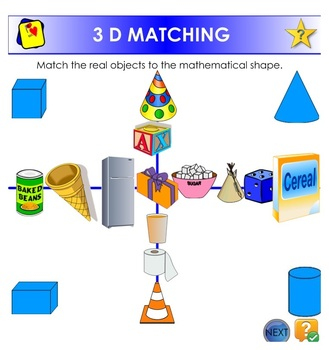 MATCHING 3D OBJECTS TO MATHEMATICAL SHAPES