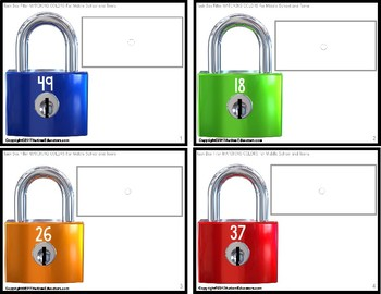 """MATCHING COLORS TASK CARDS for Middle School and Teens """"Task Box Filler"""""""