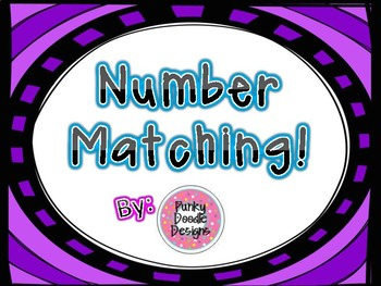 MATCHING GAME! NUMBERS 1-20