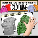 """MATCHING TWO IDENTICAL OBJECTS """"Teaching Task Cards"""" (Clothing) for Autism"""