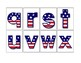 MATCHING UPPER AND LOWER CASE LETTERS Patriotic Task Cards TASK BOX FILLER