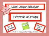 MATEMÁTICAS -Leer, Dibujar y Resolver -historias de resta