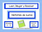 MATEMÁTICAS -Leer, Dibujar y Resolver -historias de suma ¡