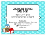 MATH 4th Grade CCSS Constructed Response Tasks – Compare, Order, & Add Fractions