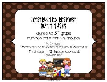 MATH 5th Grade CCSS Constructed Response Tasks – Operation