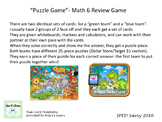 MATH 6 REVIEW SOL PUZZLE GAME TASK CARDS REMEDIATION