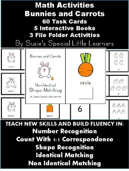 MATH ACTIVITIES FOR AUTISM - ADAPTED BOOKS AND TASK CARDS