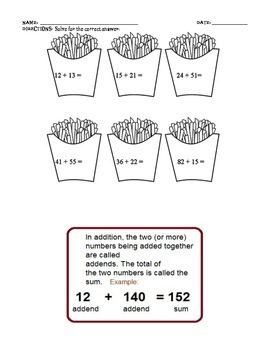 ADDITION AND SUBTRACTION WORKSHEETS (GRADE 2)