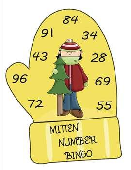 MATH AND LITERACY MITTEN BINGO GAMES K-3