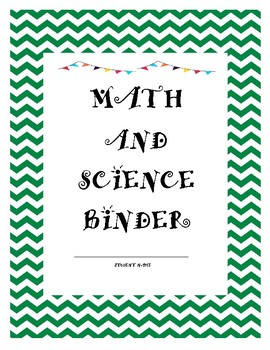 MATH AND SCIENCE BINDER COVERT