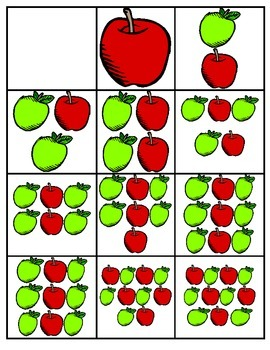 MATH APPLES & APPLES NUMBER/OBJECT MATCH CENTER