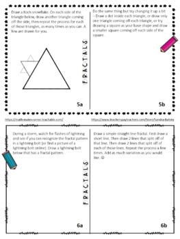 MATH ART daily math activities Math For Fun unit for grades K - 8