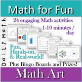 MATH ART daily math activities Math For Fun unit K - 8