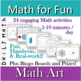 Distance Learning MATH ART daily math activities Math For