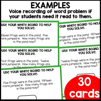 MATH ASSESSMENT 1.OA.A.1 Word Problems RESULT Unknown | BOOM CARDS