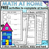 MATH AT HOME - house themed worksheets and printables to h
