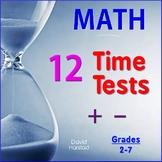 Math Fluency Practice Worksheets