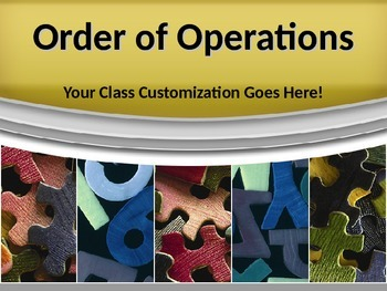 MATH ORDER of OPERATIONS Algebra PowerPoint PPT