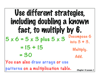 MATH: Applying Multiplication and Division strategy charts! COLOR!