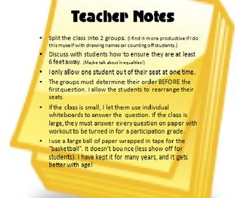 MATH BASKETBALL: Standardized Test Review for 8th Grade Pre-Algebra