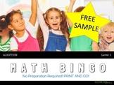 MATH BINGO (Addition - Level 1 - Math Skills for K-1st Grade)