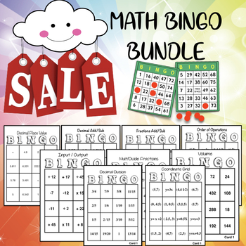 MATH BINGO BUNDLE: Perfect for 5th grade STAAR review