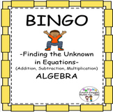 Find the Unknown in Equations (Add, Sub & Multiplication)