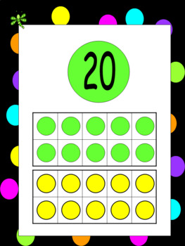MATH BOARD Black and Neon Polka Dots
