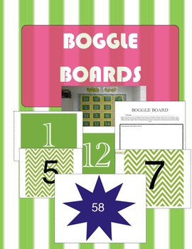 MATH BOGGLE BOARDS