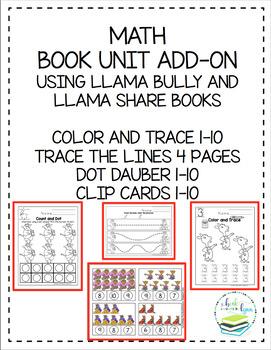 MATH BOOK UNIT ADD-ON BOOKS USED LLAMA SHARE & BULLY BOOK
