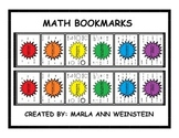 MATH BOOKMARKS