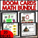 Math Boom Cards Year Long Distance Learning Bundle | End o
